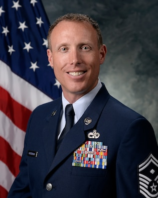 Senior Master Sgt. Justin Halterman, 50th Operations Group first sergeant