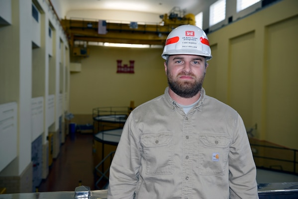 Cade Barnes, maintenance worker at Dale Hollow Power House is the Nashville District's Employee of the Month for September 2018.