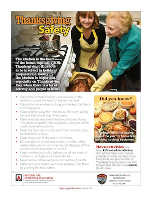 Thanksgiving cooking safety tips. (Courtesy graphic)