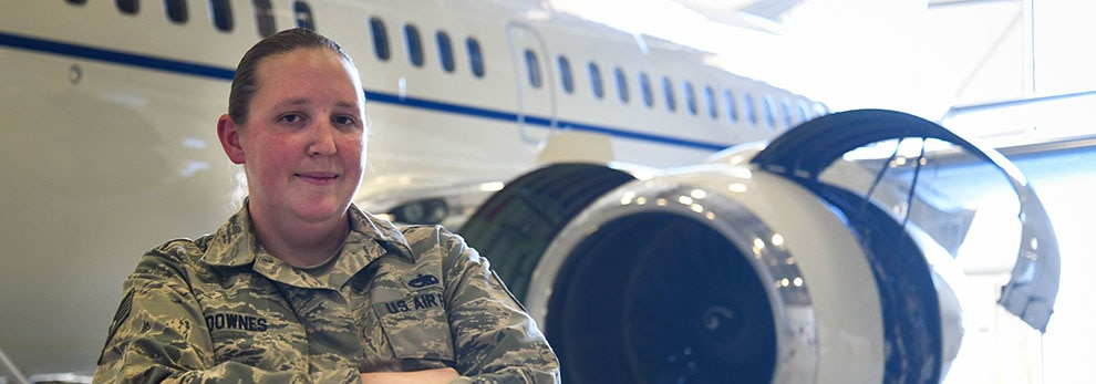 Tech. Sgt. Kelly Downes, a 213th Air Maintenance Squadron Phase Inspector, saved her 91 year-old neighbor from a house fire in Essex, Md., Oct. 16.
