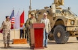 U.S. and Qatari military forces participate in the opening ceremony of Exercise Eastern Action 2019, Nov. 4, 2018. Eastern Action is a U.S. Army Central led exercise conducted between U.S. and Qatari military forces to enhance interoperability and demonstrate our commitment to long-term stability in the region.