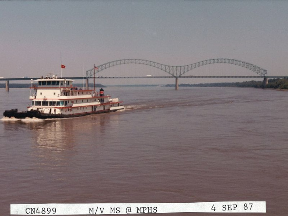 At work on the M/V Mississippi IV