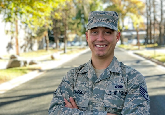Staff Sgt. Kannon Thompson, Air Force reservist in the Hill Consolidated Command Post