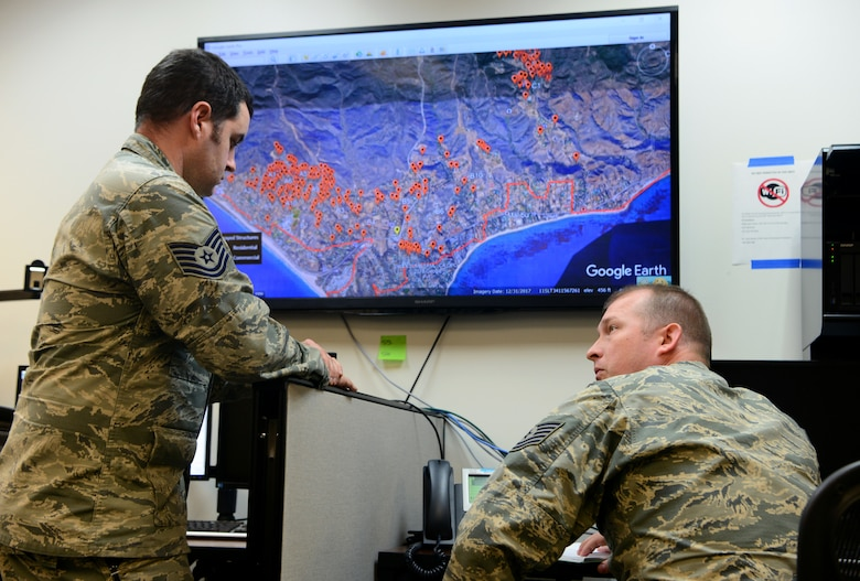 195th ISRG provides intelligence support for Camp and Woolsey Fires