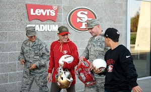 49ers meet Airmen, Different Uniforms Similar Goals