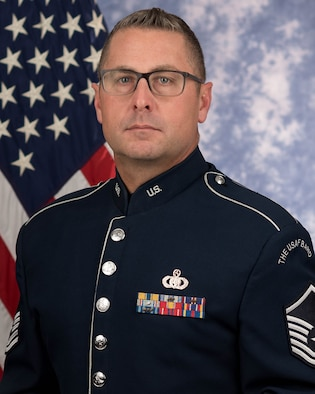 Master Sgt. Thomas Rarick is a percussionist with the Ceremonial Brass, The United States Air Force Band, Joint Base Anacostia-Bolling, Washington, D.C. A native of Carlisle, Pennsylvania, his Air Force career began in 1997.  A graduate of Indiana University of Pennsylvania, Rarick earned a Bachelor of Arts degree in percussion performance in 1996. His former teachers include Dr. Gary Olmstead, Dr. Jack Stamp and Mr. Ron Horner.
