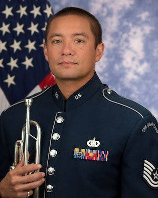 Technical Sgt. Michael P. Ramos is a trumpeter with the Ceremonial Brass, The United States Air Force Band, Joint Base Anacostia-Bolling, Washington, D.C. His career in the Air Force began in 2003.