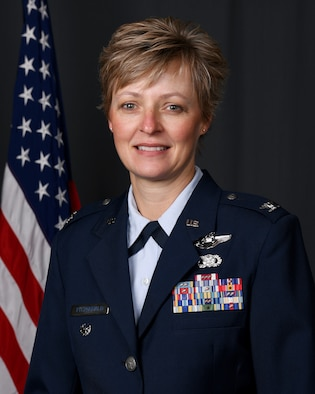 Col Kimberly A. Fitzgerald poses for a bio photo