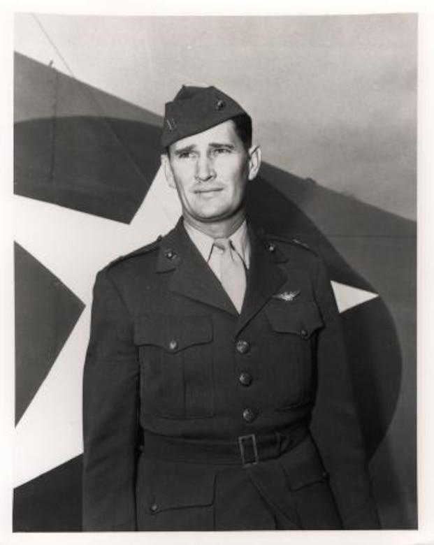 Portrait of Marine Corps Capt. Joseph Foss