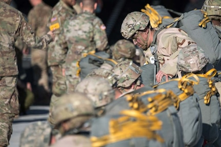 Soldiers from the 82nd Airborne Division at Fort Bragg, North Carolina, prepare to load onto a C-17 Globemaster III during a joint Large Package Week and Emergency Deployment Readiness Exercise Feb. 5-11. The Army released a new directive designed to encourage Soldiers to maintain their deployability status. The service is looking to reduce its non-deployable numbers to help its forces become more lethal and ready.