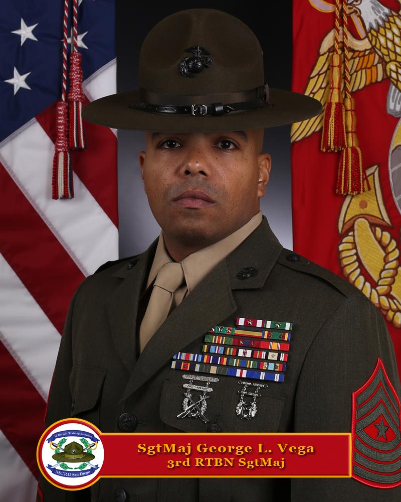 Sergeant Major George L. Vega > Marine Corps Recruit Depot