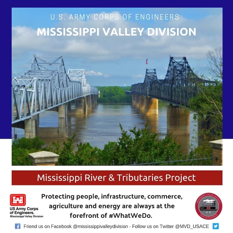 Protecting people, infrastructure, commerce, agriculture and energy are always at the forefront of what we do at the U.S. Army Corps of Engineers, Mississippi Valley Division (MVD).