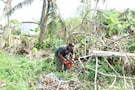 Army Reserve Soldiers help fellow Soldiers with home cleanup