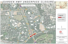 Beginning as soon as late December, Garden Highway, underneath the Interstate 5 overpass, will be closed to traffic for up to three weeks.