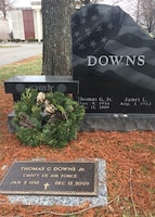 A project organized by a retired Kentucky Air National Guardsman placed a wreath on the grave of Chief Master Sgt. Tommy Downs and more than 130 other unit members last year. Downs, a former command chief of Kentucky's 123rd Airlift Wing, passed away in 2009. (Courtesy photo)
