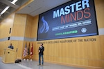 Retired Navy SEAL Jason Redman speaks to the Defense Intelligence Agency workforce Nov. 14, 2018, about the life-changing event in Iraq that made him a wounded warrior and gave him a new perspective on life.