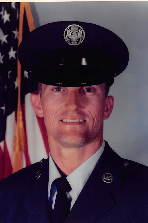 U.S. Air Force trainee Dwayne Slack in his official photo from basic military training at Lackland Air Force Base, Texas in 1989.  He is retiring as  a lieutenant colonel after more than 30 years as a Reserve Citizen Airman  (Courtesy photo)
