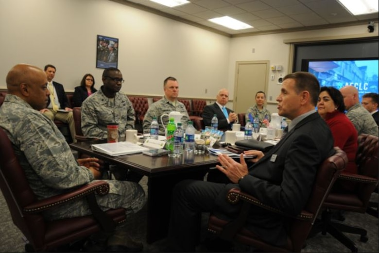 "Air University President and Commander Lieutenant General Anthony Cotton visited the Air Force Culture and Language Center Wednesday morning. During a briefing, he described the center's work as ""very beneficial""."