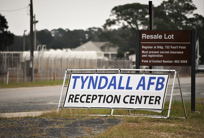 Tyndall AFB Reception Center Sign