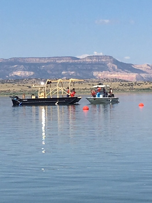 ABIQUIU LAKE, N.M. – This photo was taken Aug. 2, 2017, during a motorboat operator license class. The group was prepping for an alongside tow. Photo by Ronald Carter. This was a 2018 photo drive entry.