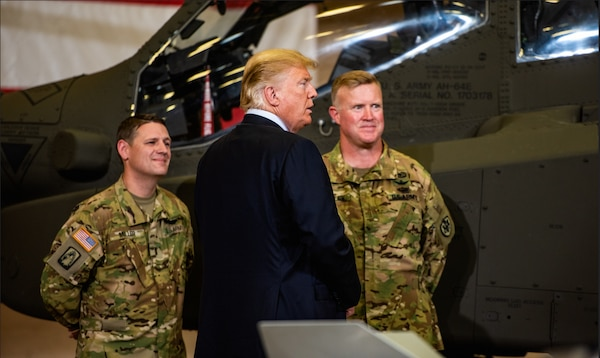 Two Soldiers meet the president