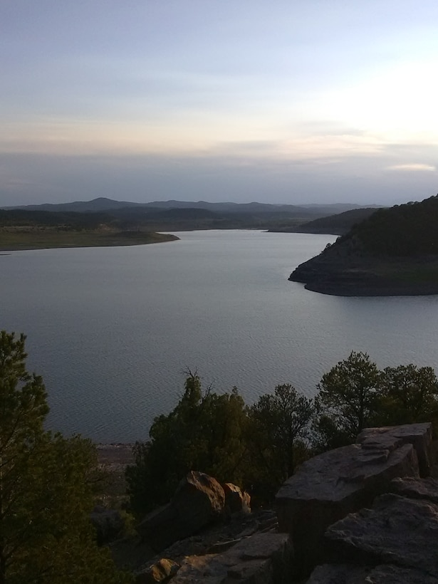 TRINIDAD LAKE, Colo. – View of the lake at dusk, Aug. 13, 2018. Photo by Kim Falen. This 2018 photo drive entry tied for third place based on employee voting.