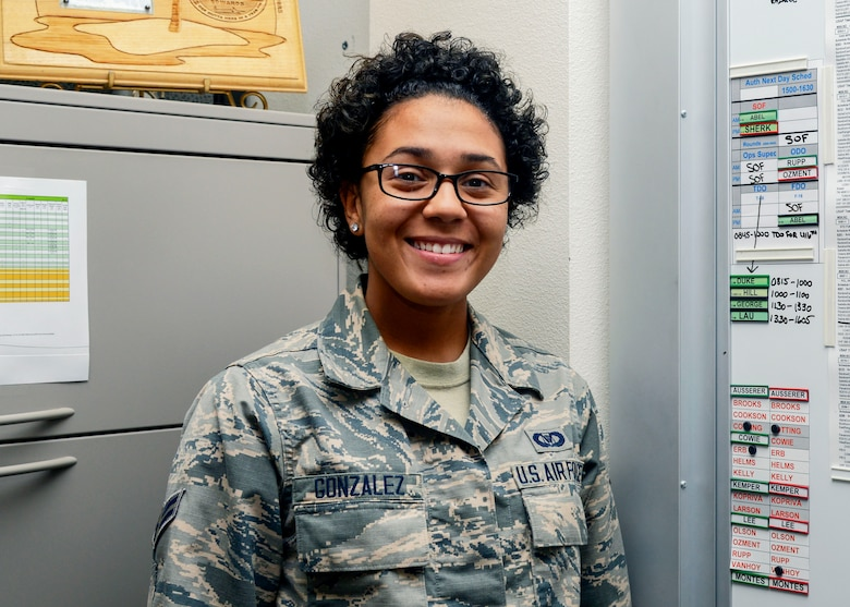 Airman 1st Class Parris Gonzalez is the 412th Test Wing Warrior of the Week. (U.S. Air Force photo by Giancarlo Casem)