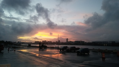 SAN JUAN, Puerto Rico, -- Sunrise at Pier 14, Oct. 17, 2018. Photo by Robin Henry. This was a 2018 photo drive entry.