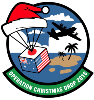 The Department of Defense's longest recurring humanitarian mission is a long-standing annual tradition of packaging and delivering food, tools and toys to more than 50 remote islands in the South-Eastern Pacific, including the Commonwealth of the Northern Mariana Islands, the Federated States of Micronesia, and the Republic of Palau. (U.S. Air Force Graphic courtesty)