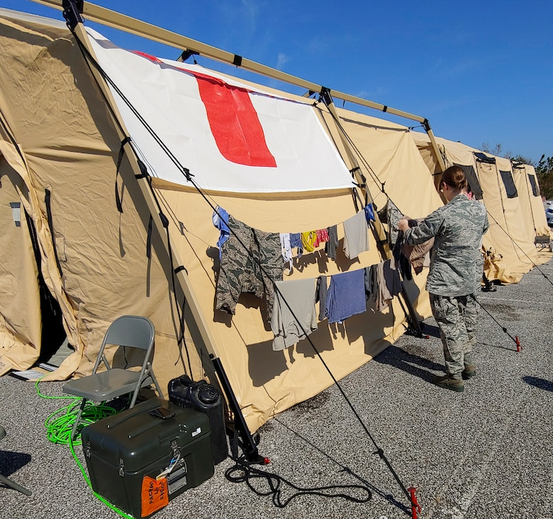 A team from the 96th Medical Group provides aid to Tyndall AFB after Hurricane Michael.