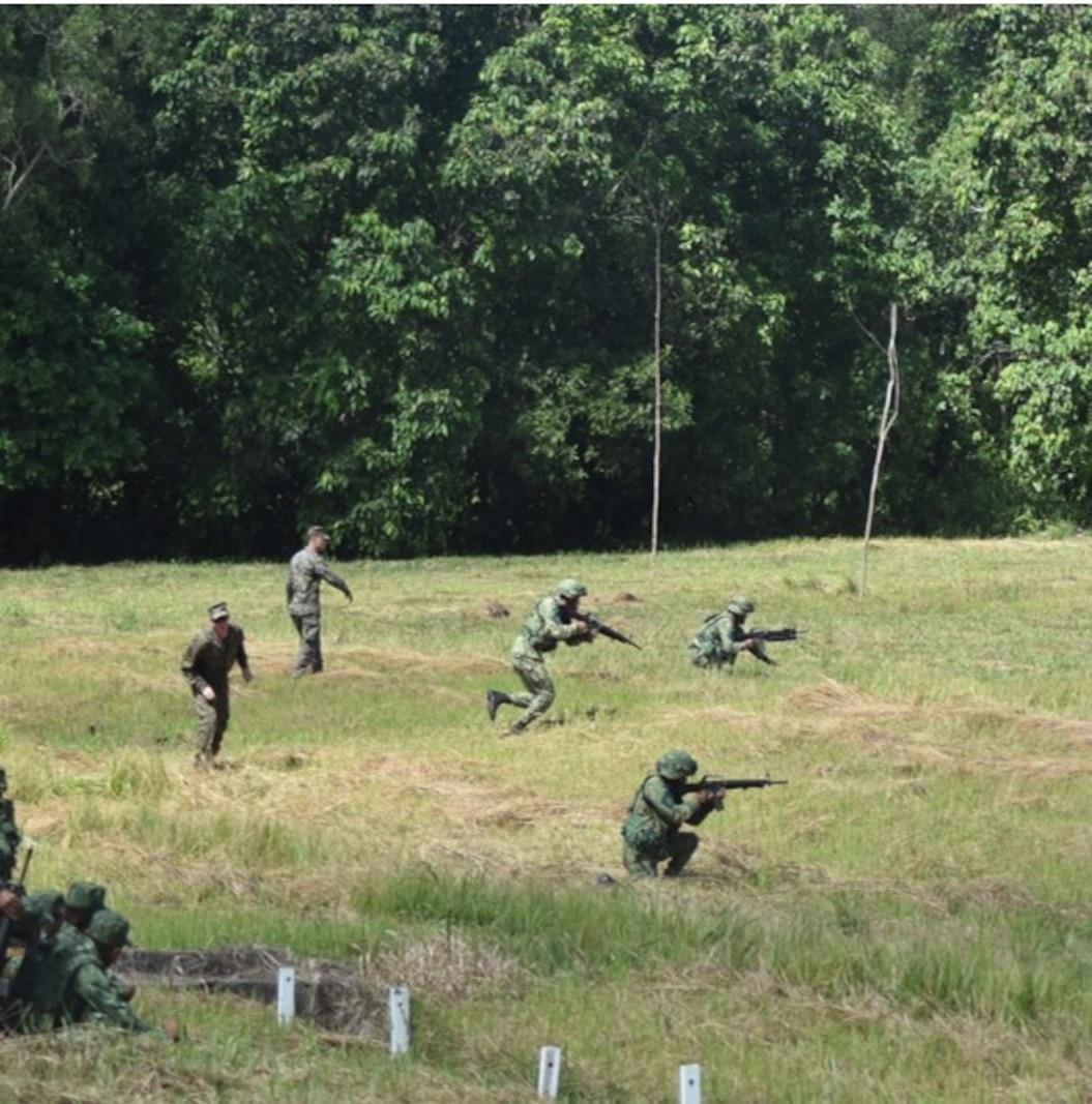 Island Warriors work alongside their Royal Brunei Land Force