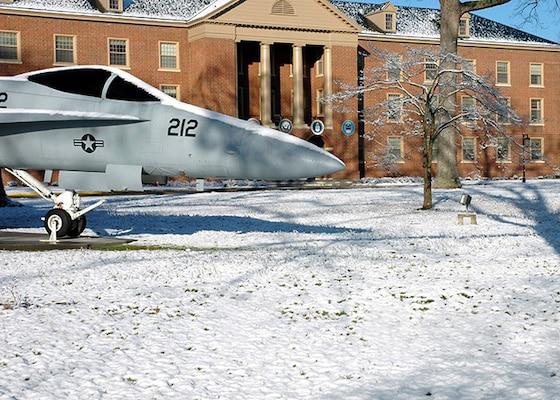 Bldg 34 with snow on ground