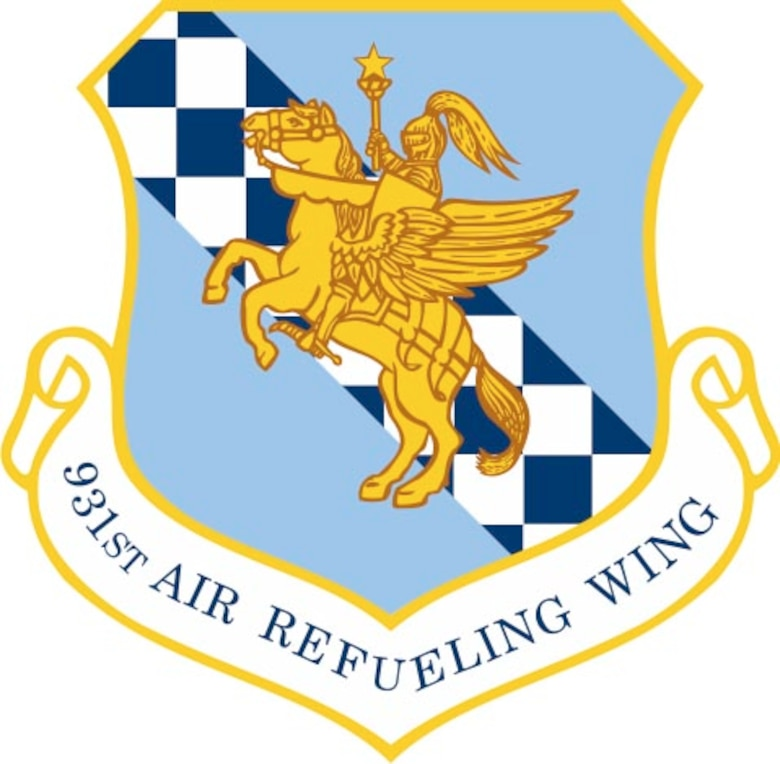 The 931st Air Refueling Wing logo.