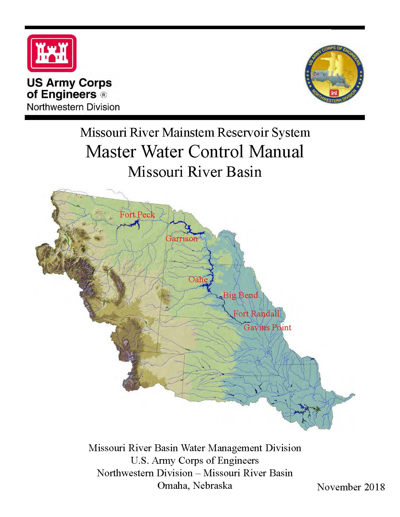 2018 Edition Of Missouri River Master Manual Now Available