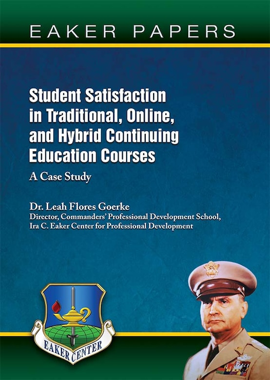 Book Cover - Student Satisfaction in Traditional, Online, and Hybrid Continuing Education Courses