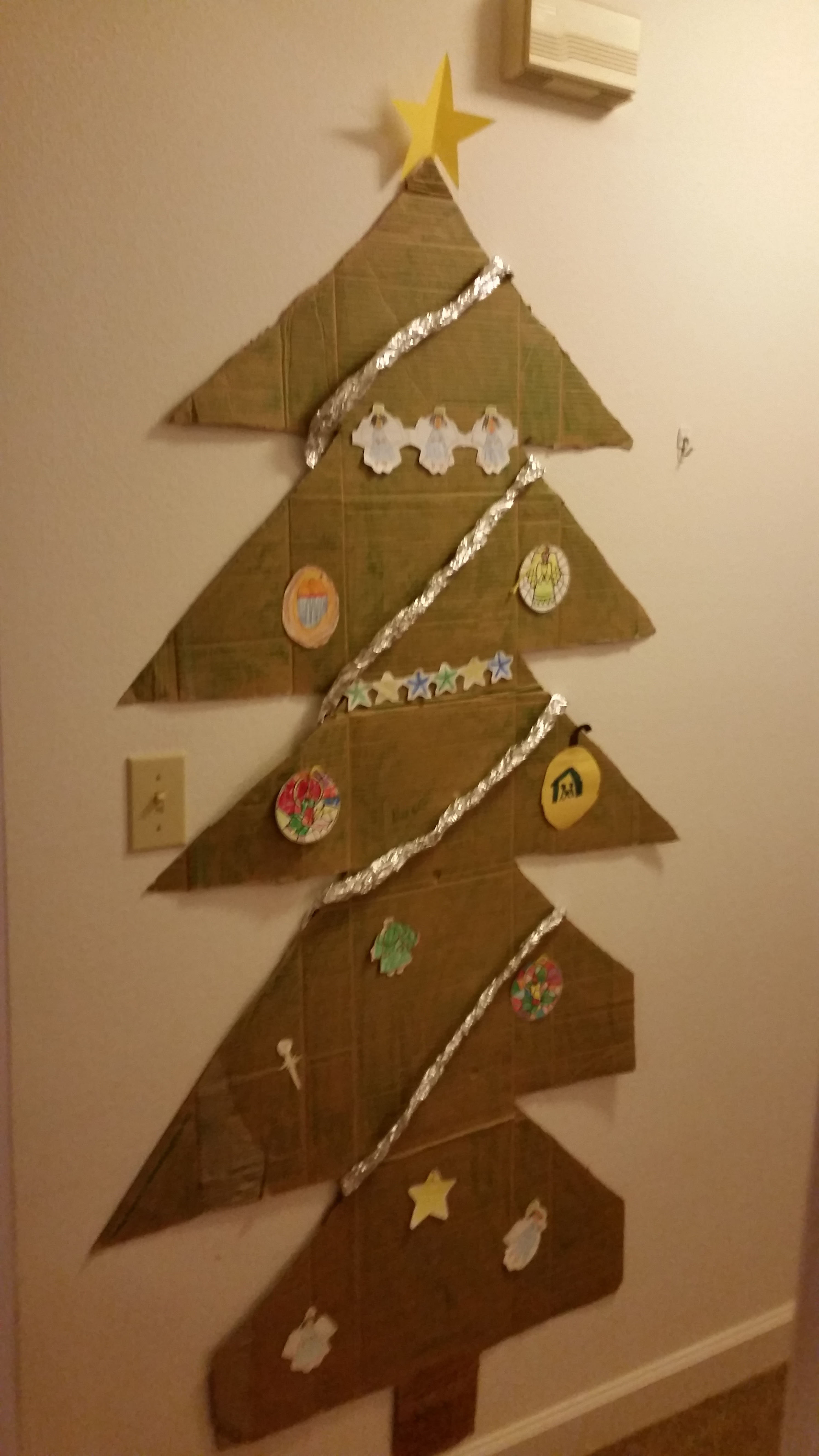 Cardboard Christmas Tree.Commentary Our Cardboard Christmas Tree Air Force