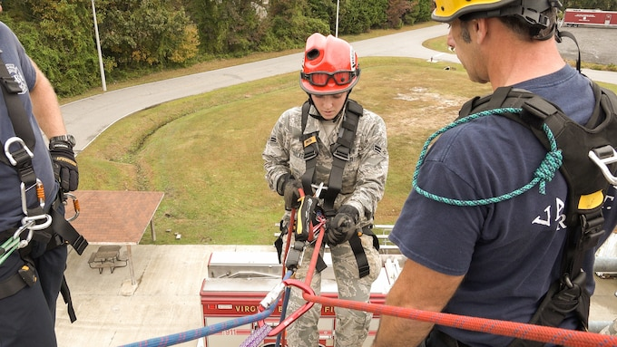 192nd Medical Group Airmen train for CERFP mission