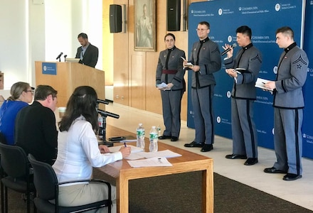 Congratulations to the West Point - The U.S. Military Academy cyber policy team! They placed 2nd in the Cyber 9/12 competition at Columbia University in the City of New York. With 28 teams total, they were the only undergrad team left in the remaining top four during the final round.