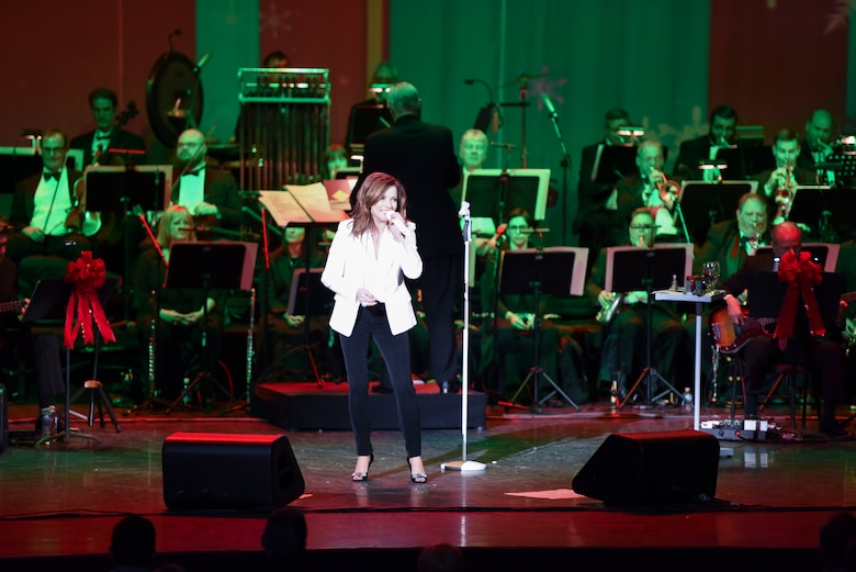 Country music star Martina McBride performs at the opening night of her Joy of Christmas tour in Biloxi, Miss., Nov. 23, 2018. During her performance, McBride recognized two Keesler Air Force Base military members who had recently returned from deployments. (U.S. Air Force photo by Tech. Sgt. Sarah Loicano)