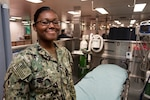 Hospitalman Michelle Tayas-Rivas, a Colombian-American aboard the hospital ship USNS Comfort in Colombia.