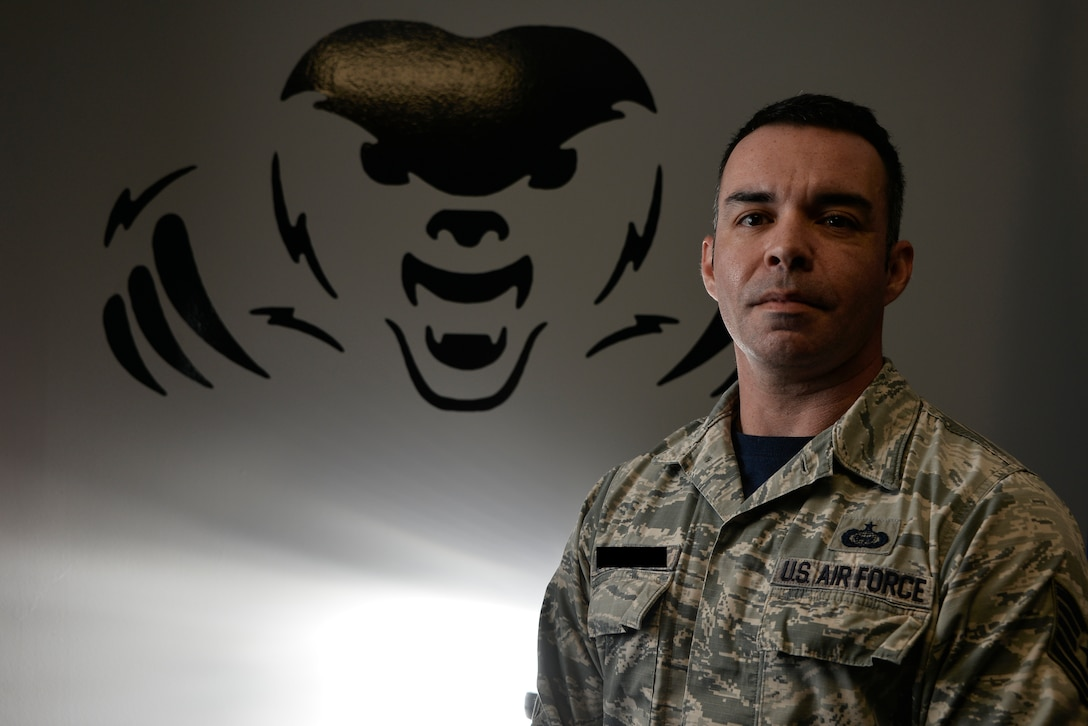 Tech. Sgt. Johnathan, 16th Intelligence Squadron deputy fight chief, poses for a portrait November 9, 2018 at Fort George G. Meade, Maryland. As a Signals Intelligence Reserve Airman, Jonathan is able to acquire, process, identify, analyze and report on electromagnetic emissions while working with Active Duty airmen of the 94th IS. Last names have been removed for security reasons. (U.S. Air Force photo by Staff Sgt. Alexandre Montes)