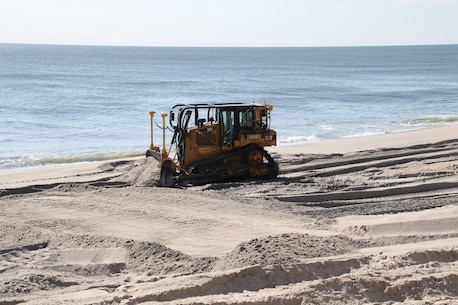 The U.S. Army Corps of Engineers is managing the Manasquan Inlet to Barnegat Inlet Coastal Storm Risk Management project in partnership with New Jersey Department of Environmental Protection and contractor Weeks Marine. The project, once fully completed, will cover approximately 14 miles of coastline along the Barnegat Peninsula and will reduce the risk of storm damages for the communities of Point Pleasant Beach, Bay Head, Mantoloking, Brick Township, Toms River Township, Lavallette, Seaside Heights, Seaside Park, and Berkeley Township. More than 11 million cubic yards of sand will be dredged from approved borrow areas and pumped through a series of pipes onto the beaches of the municipalities.