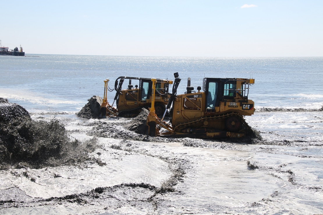 The U.S. Army Corps of Engineers manages the Manasquan Inlet to Barnegat Inlet Coastal Storm Risk Management project in partnership with New Jersey Department of Environmental Protection. The project includes a dune and berm system that is designed to reduce the risk of storm damages to infrastructure.