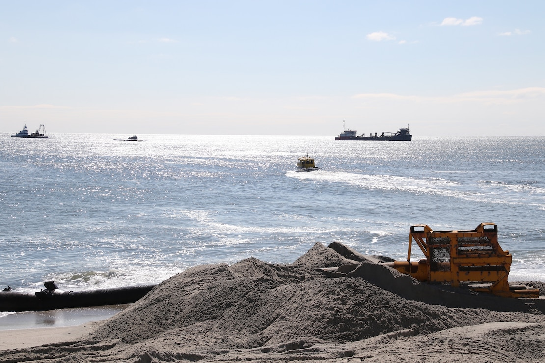 The U.S. Army Corps of Engineers manages the Manasquan Inlet to Barnegat Inlet Coastal Storm Risk Management project in partnership with New Jersey Department of Environmental Protection