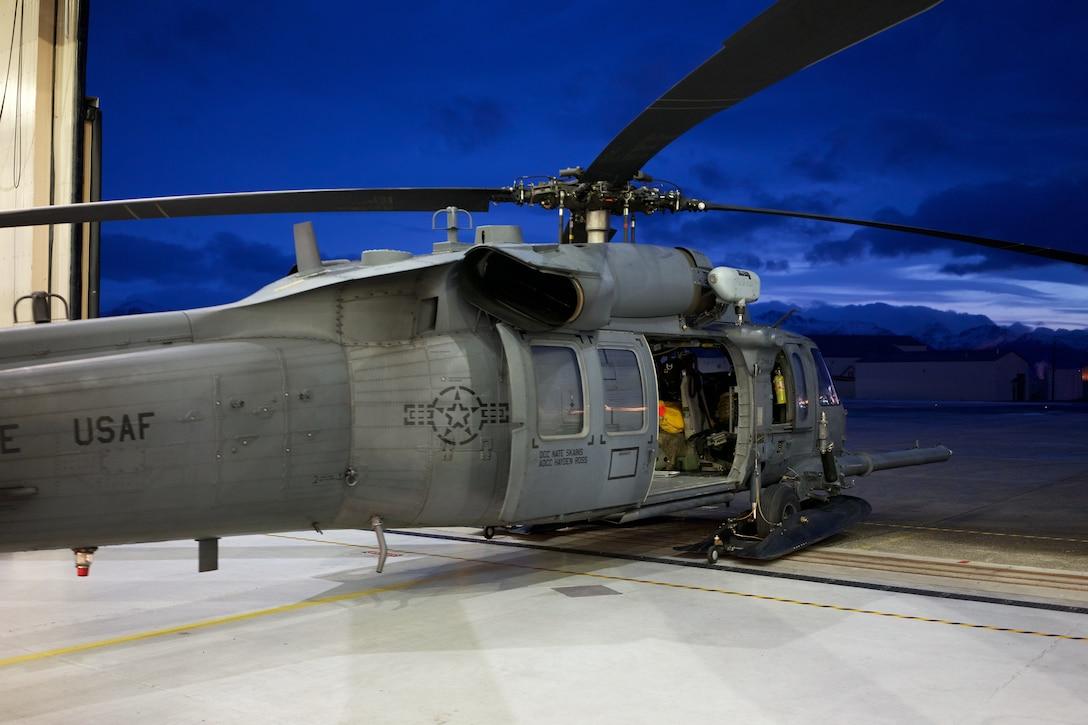 Alaska Air Guardsmen rescue two on Montague Island.
