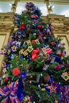 This holiday tree at the Colorado State Capitol Dec. 7, 2016, recognizes the more than 100 military members from Colorado who gave their lives in the defense of our nation since Sept. 11, 2001. Gold Star Family members hang an ornament in memory of their service member on the tree each year at the annual tree lighting ceremony. The State of Colorado's Holiday tree traditions follow very closely with ceremonies celebrated nationally.  (U.S. Army National Guard Photo by Sgt. Ray Casares)