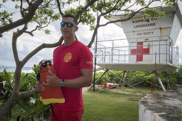 Senior Airman Casey Whitworth, a full-time lifeguard and triage response team member of the Hawaii Air National Guard, was posted near this spot at Marine Corpse Base Hawaii when he was called to help rescue the victims of a commercial helicopter crash on October 22.