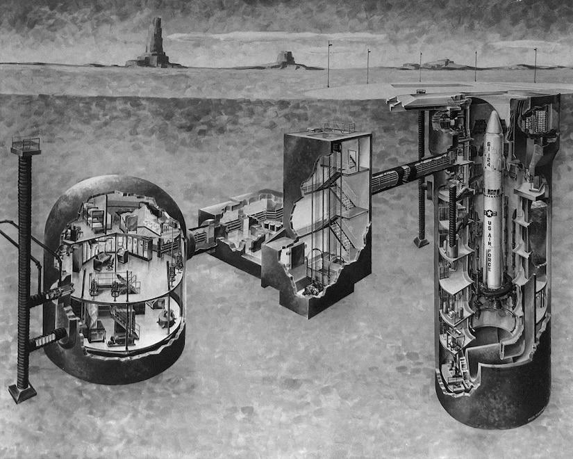 Rendering of Missile Site 8's underground complex.