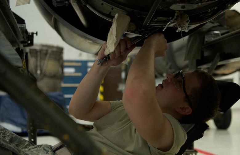 Paschal follows technical orders which gives step-by-step instructions on how to repair an F-16 engine.