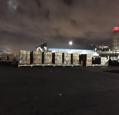 Barstow distribution center supplies tents to victims of Super Typhoon Yutu